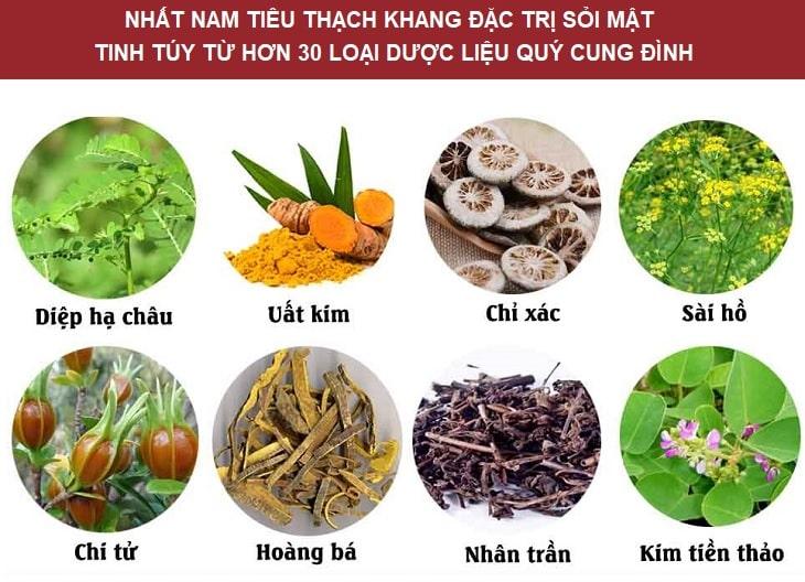Dược liệu quả dụng trong bài thuốc chữa sỏi mật Nhất Nam Tiêu Thạch Khang
