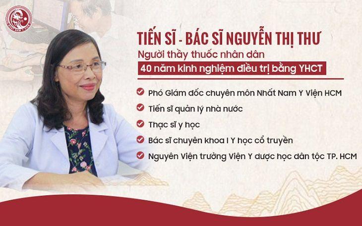 Tiến sĩ - Bác sĩ CKI Nguyễn Thị Thư - Phó Giám Đốc chuyên môn Nhất Nam Y Viện